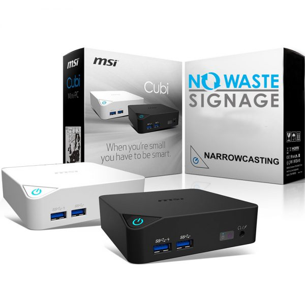 No Waste Signage narrowcasting oplossing
