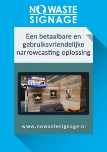 No Waste Signage narrowcasting brochure